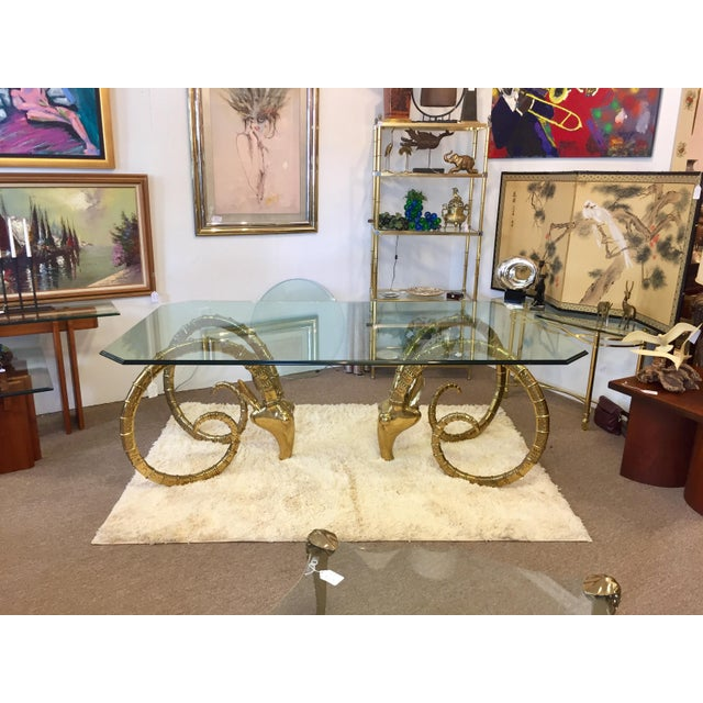 Solid Brass Vintage Ibex Dining Table For Sale - Image 13 of 14