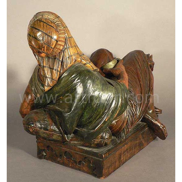 Early 20th Century Gorgeous Wooden Carved Arab Vienna Ca. 1900 For Sale - Image 5 of 9