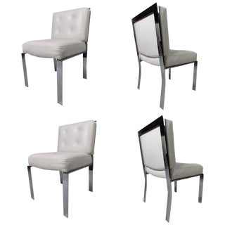 Mid-Century Milo Baughman Dining Chairs - Set of 4