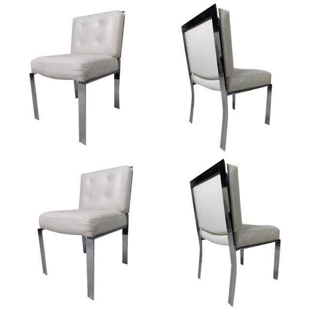 Magnificent Mid Century Milo Baughman Dining Chairs Set Of 4 Machost Co Dining Chair Design Ideas Machostcouk