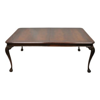 Bernhardt Centennial Georgian Chippendale Mahogany Dining Table For Sale