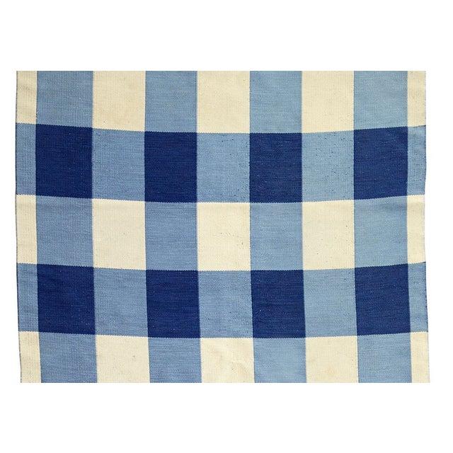 Large Swedish Rollakan Double-sided Flat-weave Carpet - Image 3 of 3
