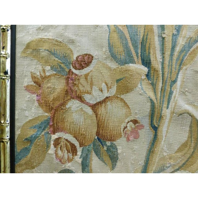18th Century Floral Aubusson Panels, Set of Three For Sale In Miami - Image 6 of 11