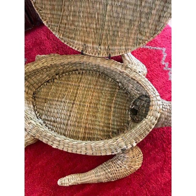Mario Lopez Torres Woven Sea Turtle Decorative Storage Container For Sale In Los Angeles - Image 6 of 8