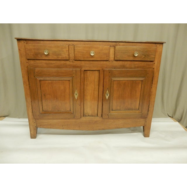 Narrow French Provincial Walnut Buffet For Sale - Image 9 of 9
