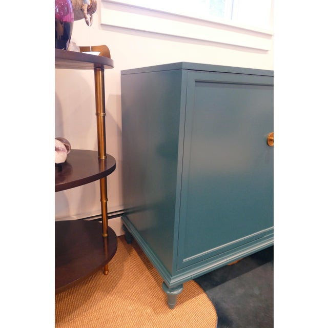 Art Deco Tea Century Chest With Gold Hardware For Sale - Image 3 of 11