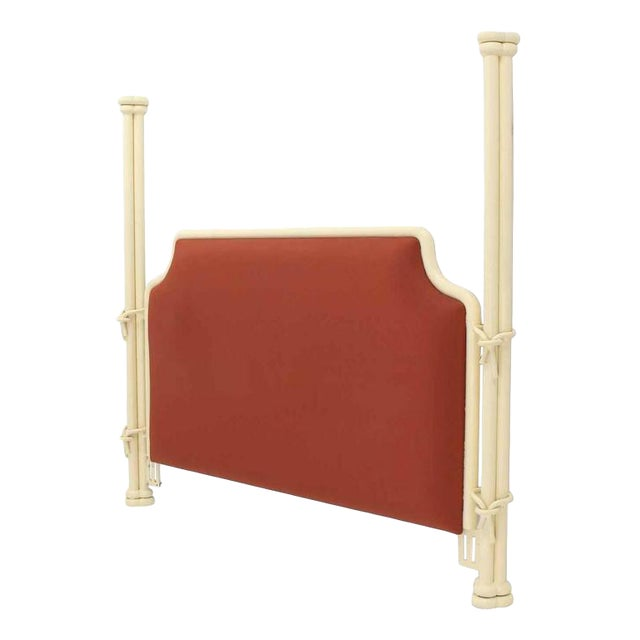 White Poster Bed Headboard For Sale