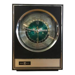 Mid-Century World Clock by Howard Miller