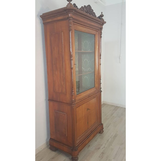 19th Century Italian Charles X Cherry Wood Cabinet For Sale - Image 12 of 13