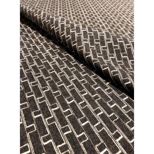 Modern Holland + Sherry Django - Modern Obsidian 100% Wool Black and White Multipurpose Fabric - 8.5 Yards For Sale - Image 3 of 5