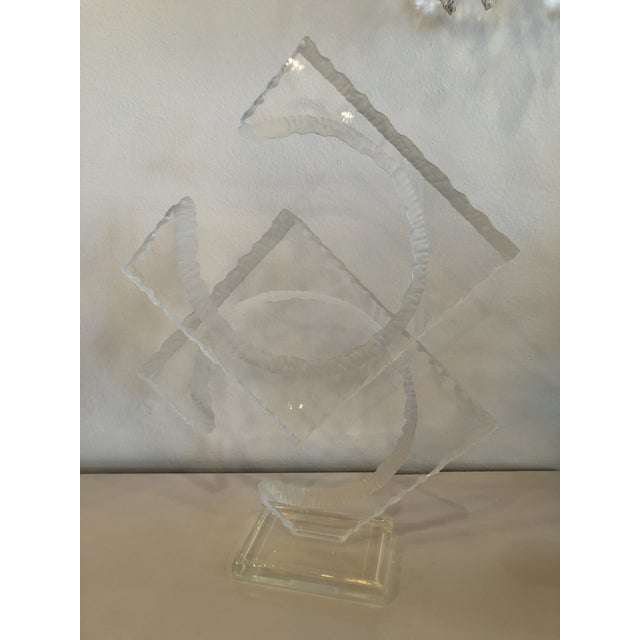 Vintage Signed Van Teal Lucite Statue For Sale - Image 5 of 12