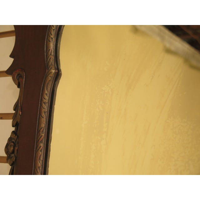 Brown Kindel Georgian Style Mahogany Mirror For Sale - Image 8 of 11