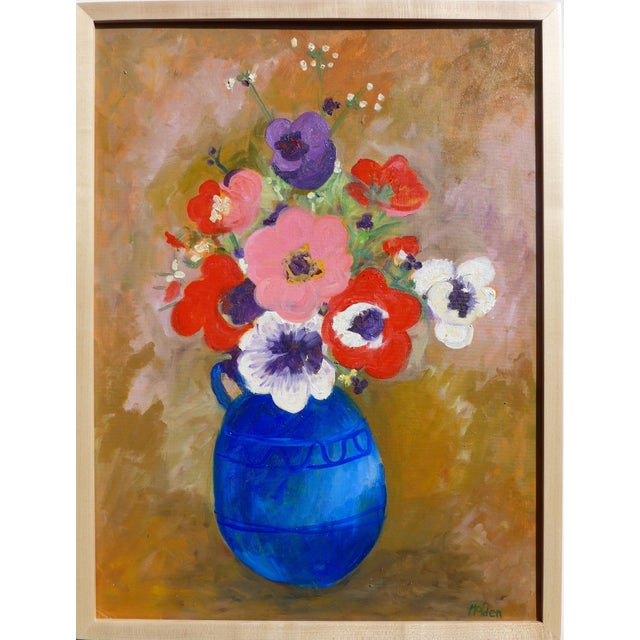 Large - French Bouquet of Flowers, Oil Painting For Sale - Image 13 of 13