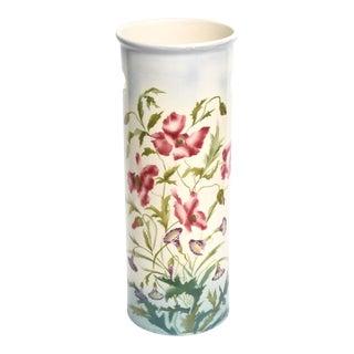 20th Century Cottage Floral Porcelain Umbrella Stand or Cane Holder For Sale