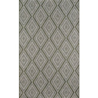 """Madcap Cottage Lake Palace Rajastan Weekend Green Indoor/Outdoor Area Rug 6'7"""" X 9'6"""" For Sale"""