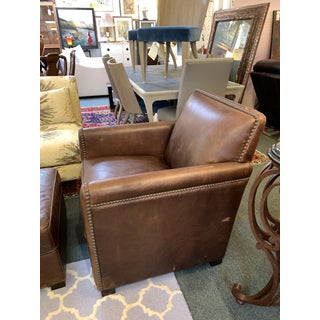 Custom Design Lewis Leather Chair + Ottoman Preview