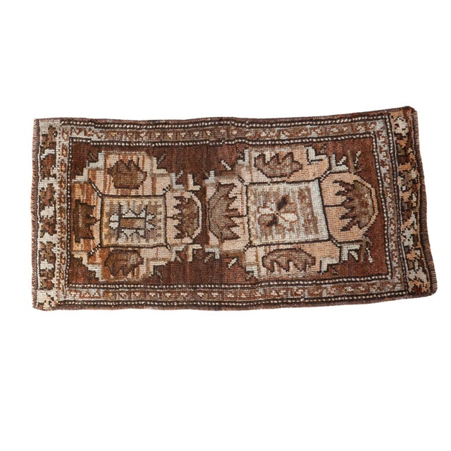 "Vintage Oushak Rug Mat - 1'7"" X 3'2"" For Sale"