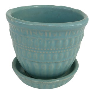 McCoy Turquoise Planter For Sale