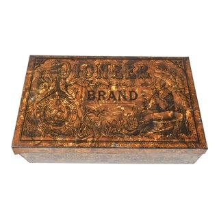 Antique Pioneer Cavendish English Tobacco Tin For Sale