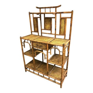 19th Century Bamboo Etagere Shelves