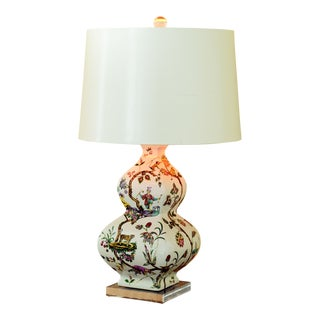 "Chinoise Exotique Lamp--Ivory Lizard 31""h For Sale"