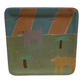 """Handmade Decorative Tray - """"Lichtenstein 84"""""""