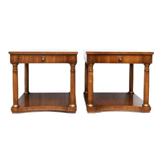 1950s Drexel Neoclassical Side Tables - A Pair
