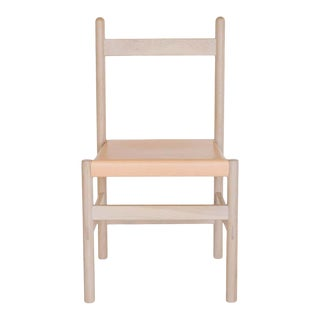 Juniper Chair by Sun at Six, Nude Minimalist Chair in Wood and Leather For Sale