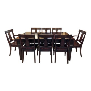 Pottery Barn Dining Table + Eight Dining Chairs For Sale