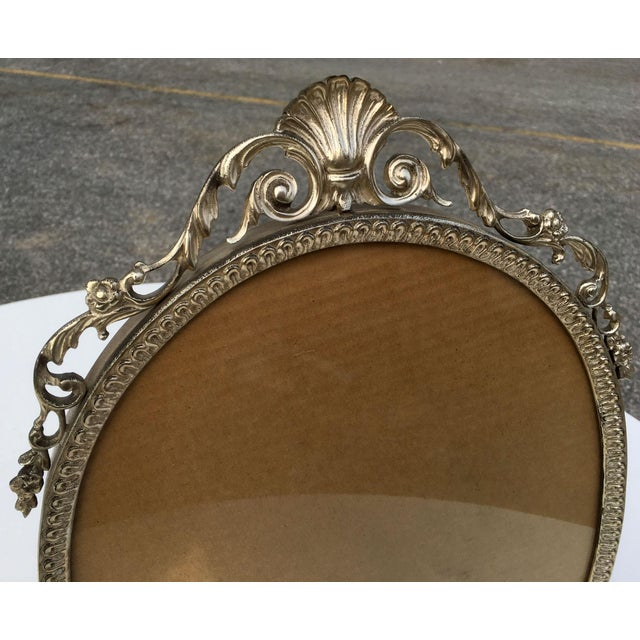 Early 20th Century Art Nouveau/Art Deco Silver Gilded Standing Photo Frame For Sale - Image 4 of 13