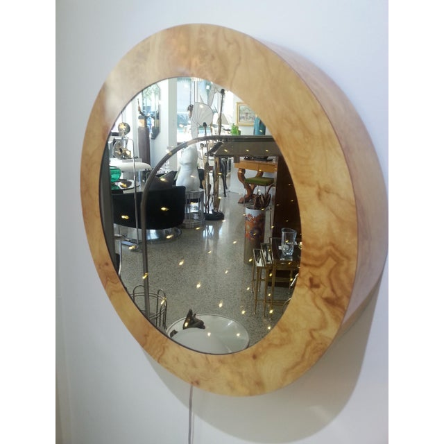 This stylish and hip infinity light mirror was acquired from an estate in South Beach, Florida and dates to the 1970s. The...