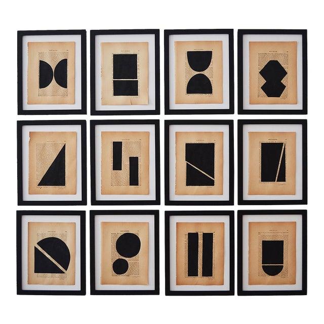 Josh Young Design House Noir Géométrique Collection Paintings, 12 Pieces For Sale