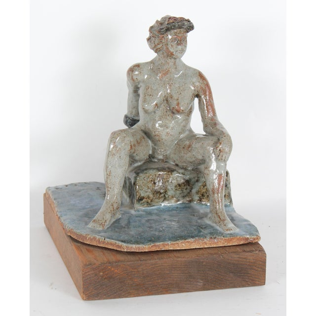 1997 Clay Figure Sculpture by David Fox - Image 2 of 3