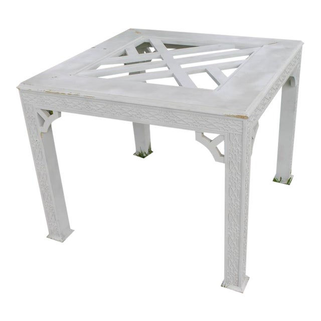 Chinese Chippendale Fret Work Game Table Dining - Image 1 of 7