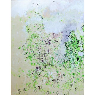 Modern Fantasy Forest Watercolor Painting For Sale