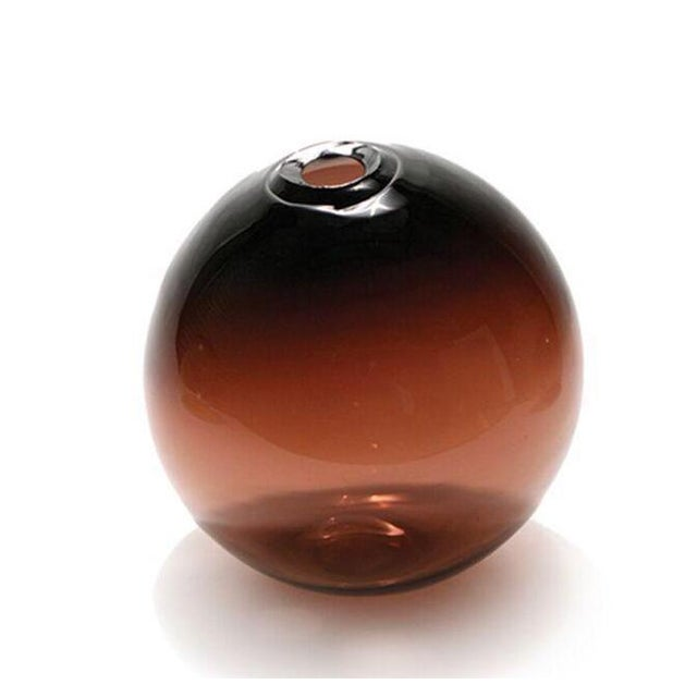 "2010s SkLO Float Glass Vessel 6"" - Plum For Sale - Image 5 of 5"
