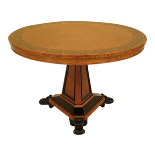 Baker Stately Homes Round Empire Center Table