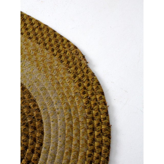 Early 20th Century Vintage Braided Wool Accent Rug For Sale - Image 5 of 8