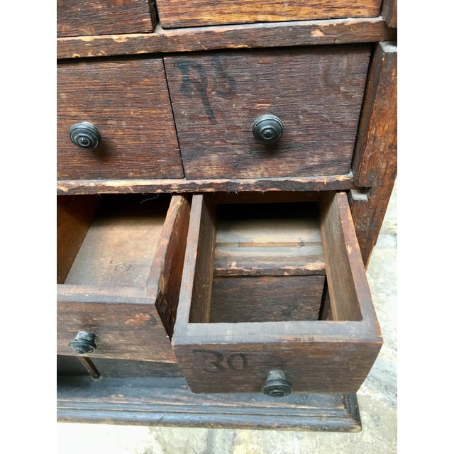 Brown 1920s Vintage Apothecary Cabinet For Sale - Image 8 of 9