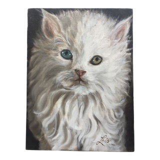 1970s Vintage Persian Cat Painting For Sale