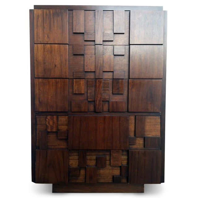 Paul Evans for Lane Brutalist Tallboy Dresser - Image 2 of 3