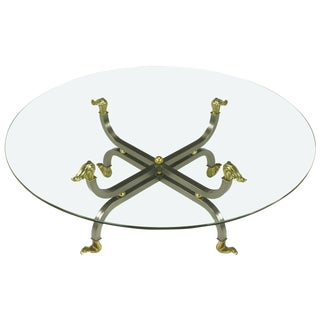 Regency Brass & Gunmetal Coffee Table For Sale
