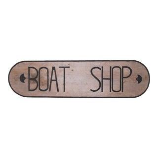 Vintage New England Boat Shop Sign For Sale