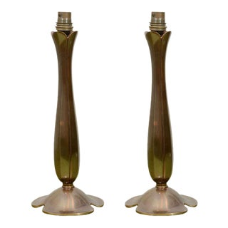 Bronze Lamps - A Pair For Sale