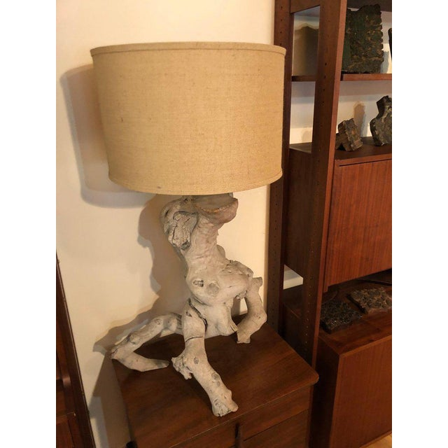 Mid-Century Modern 1960s Vintage Driftwood Lamp For Sale - Image 3 of 13