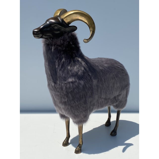 Claude Lalanne Late 20th Century Brass Sheep Sculpture In the Style of Claude Lalanne For Sale - Image 4 of 13