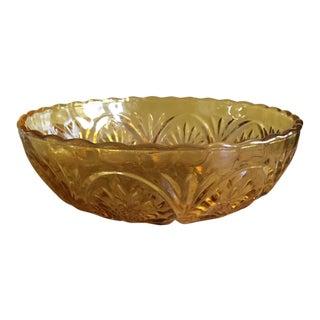 Vintage 1970s Amber Bowl
