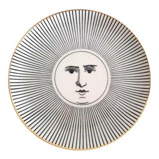 Piero Fornasetti Soli E Lune Porcelain Plate, 1970s. For Sale