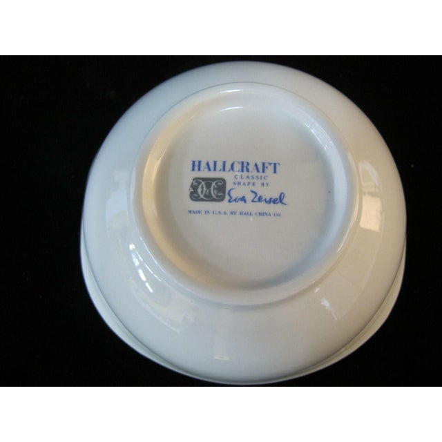 Eva Zeisel Hall Mid Century Modern Atomic Fantasy Coupe Cereal Bowls - Set of 6 For Sale In Portland, OR - Image 6 of 7