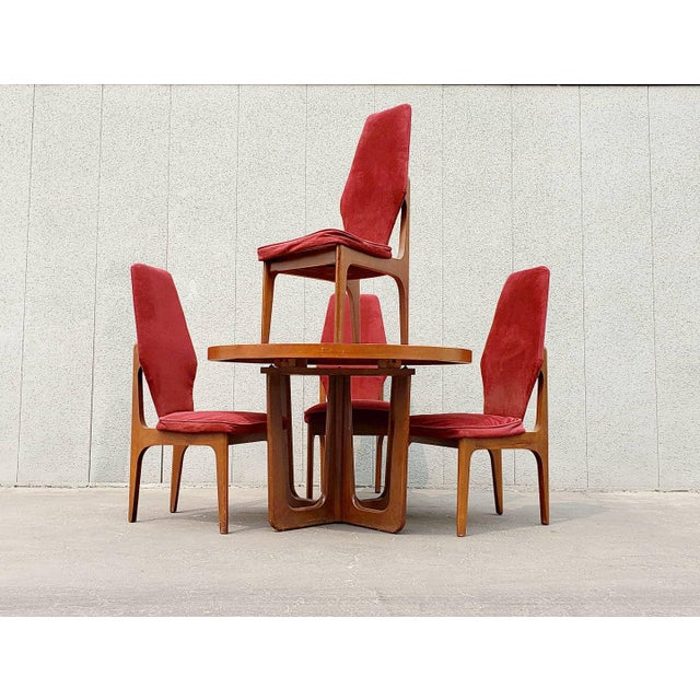 1950s Mid Century Dining Set - 5 Pieces For Sale In Los Angeles - Image 6 of 6